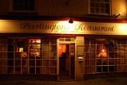 View of Burlingtons restaurant from outside.