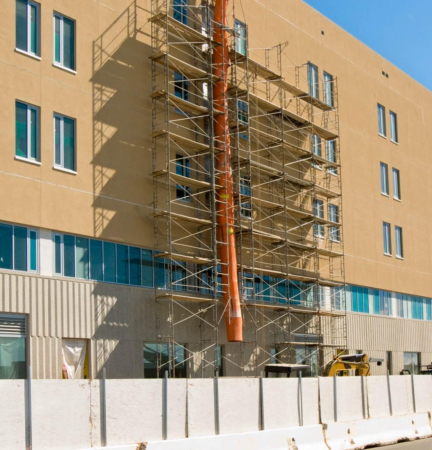 Hospital undergoing construction
