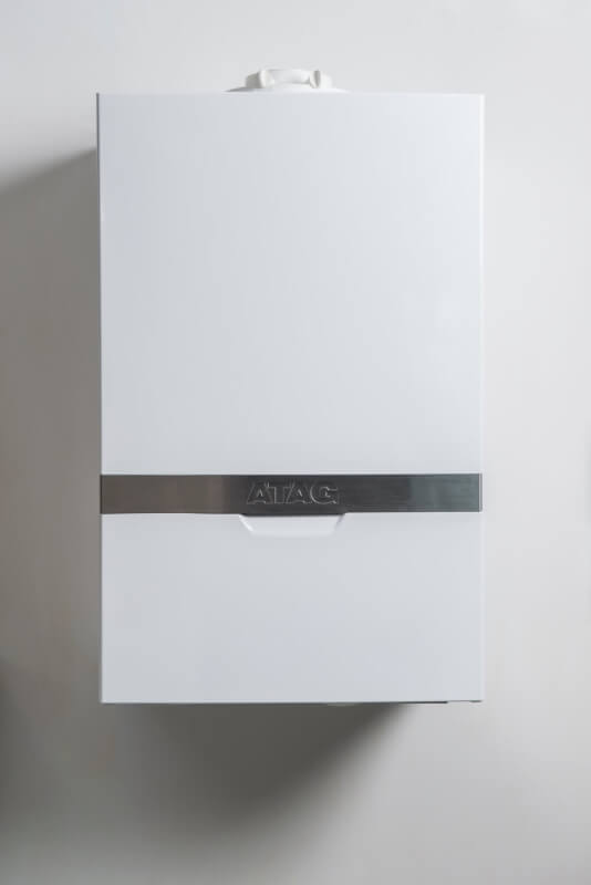 A Modern Boiler attached to the wall.