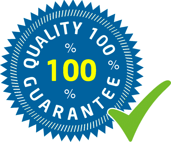 Quality 100% guarantee logo