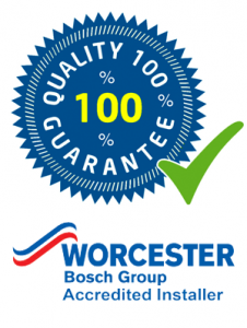 Quality 100% guarantee logo and worcester logo