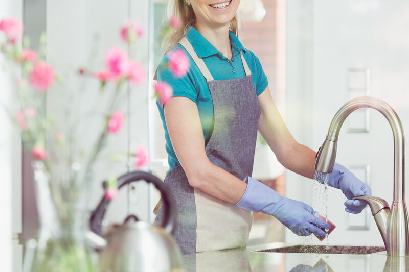 Domestic service and housekeeping concept