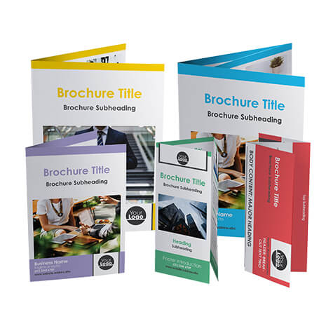 A variety of template brochures.