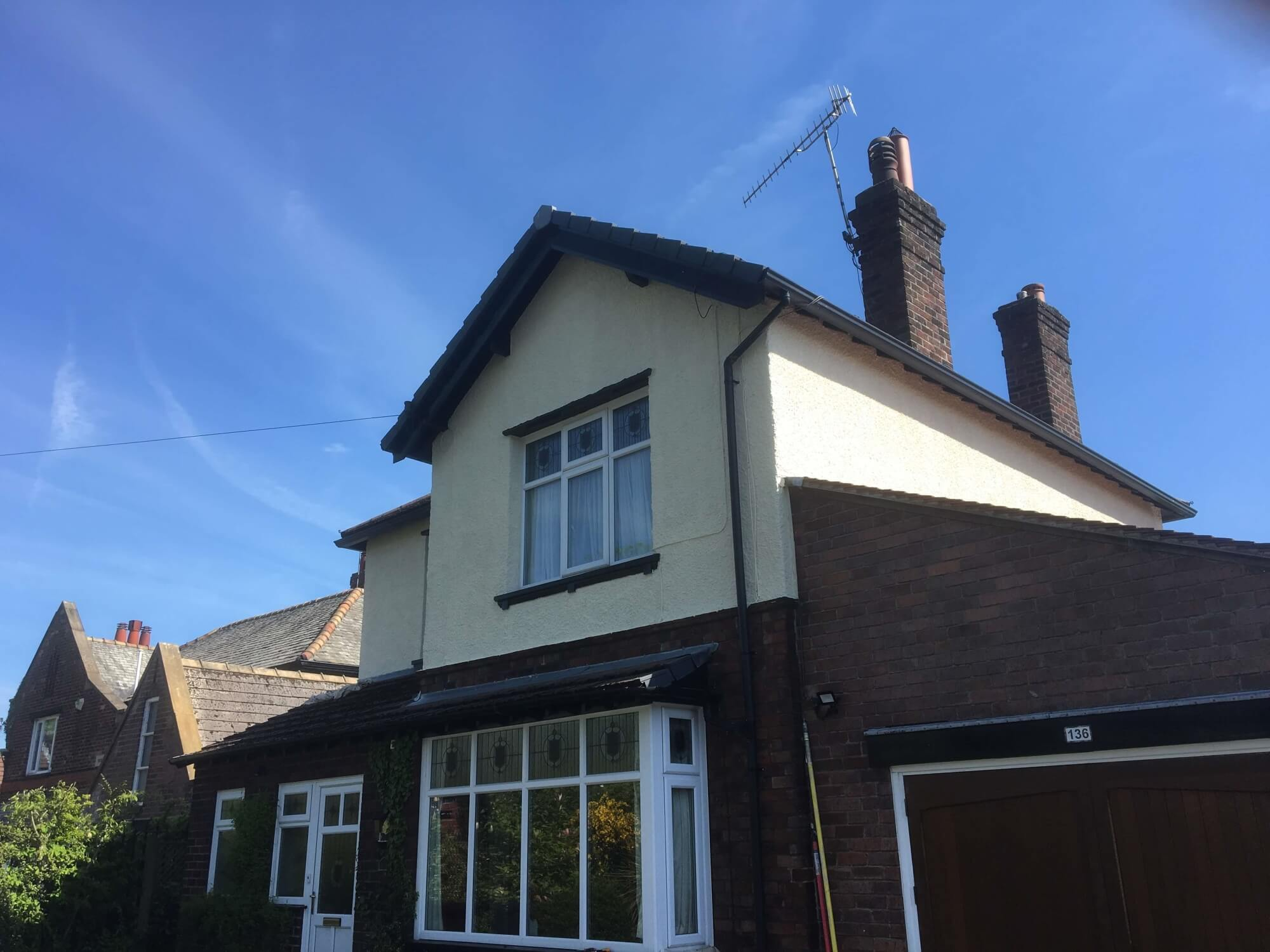 Work carried out at customers home, exterior painting.
