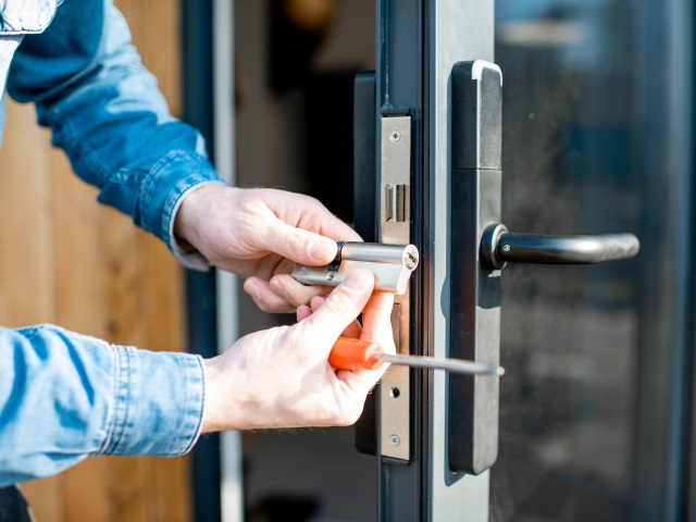 Unlocking and Fixing A Door Lock