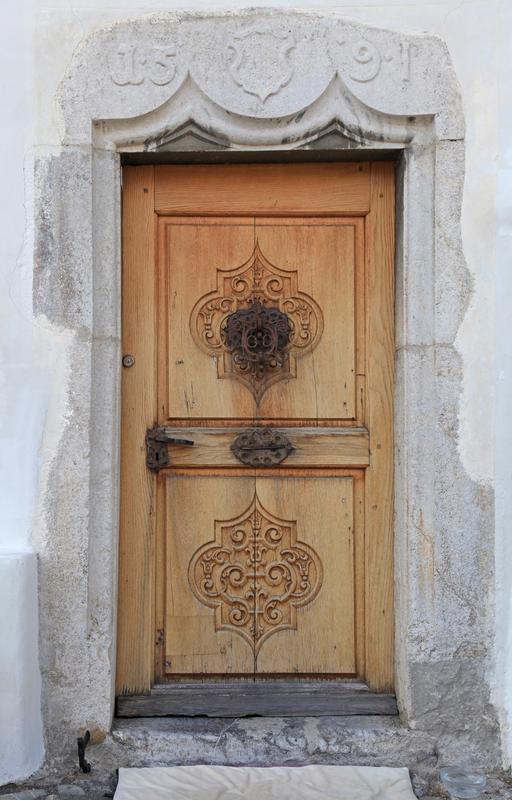 medieval door that has been stripped