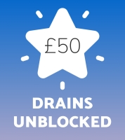 Drains unblocked for 50GBP