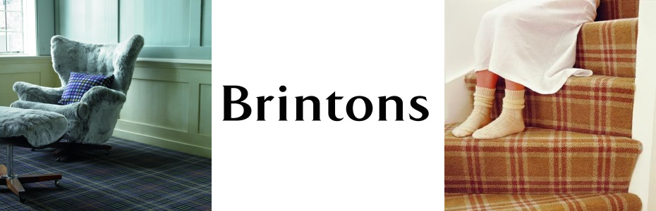 Brintons logo with furniture images