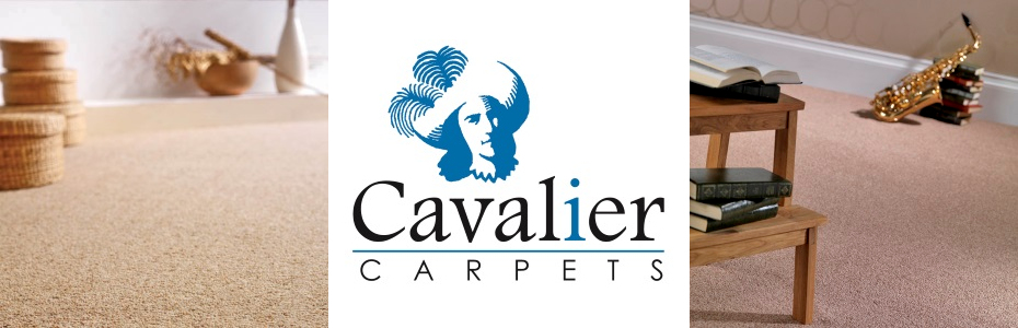 Cavalier carpets logo with carpet images.