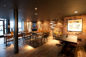 Restaurant with new lighting installed by Ardern and Druggan
