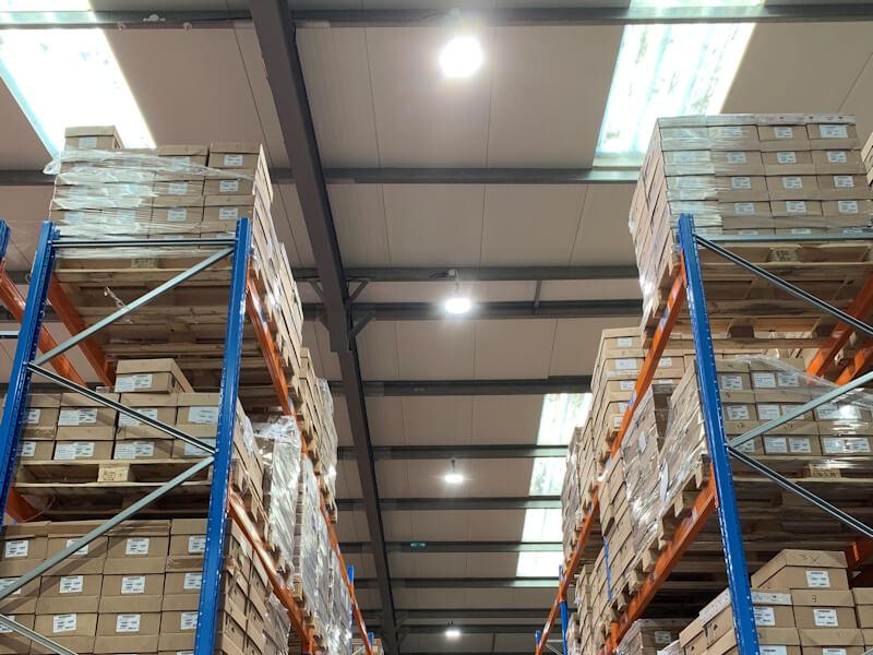Ceiling Lighting in Warehouse