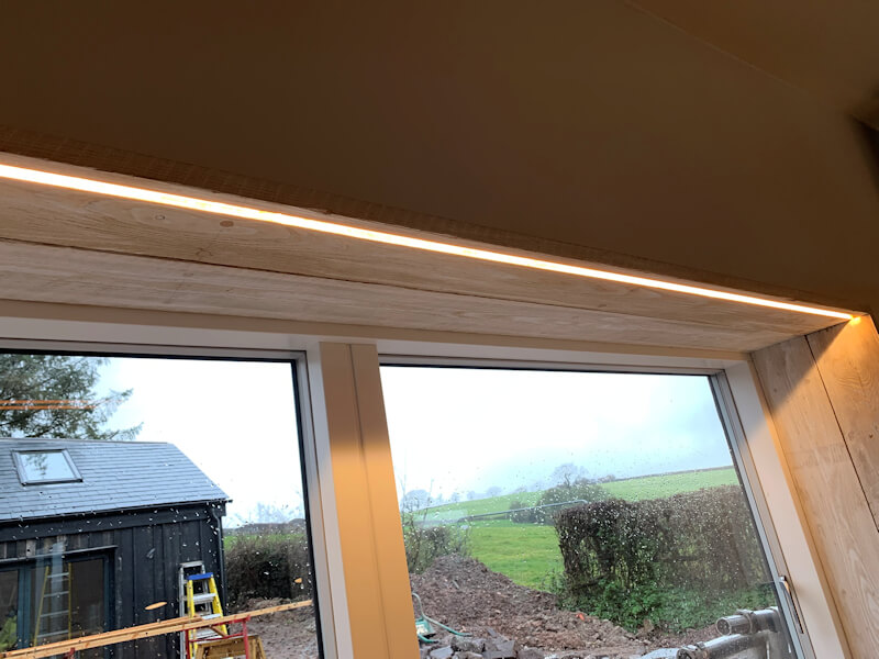 Strip Light installed above doorway by an Electrician
