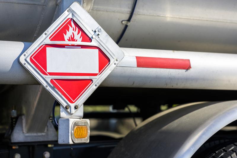 Haulage truck carrying Hazardous Materials