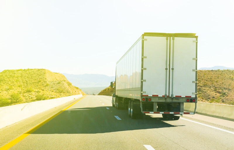 Haulage truck on a motorway