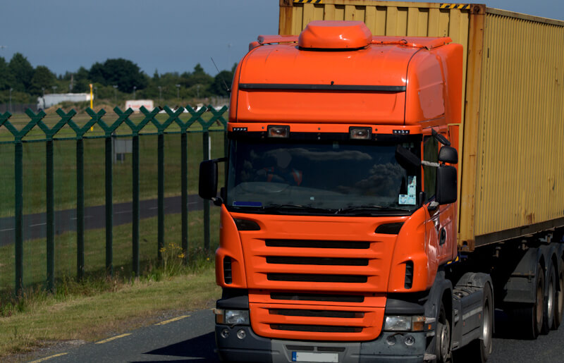A Road Haulage Truck on the road