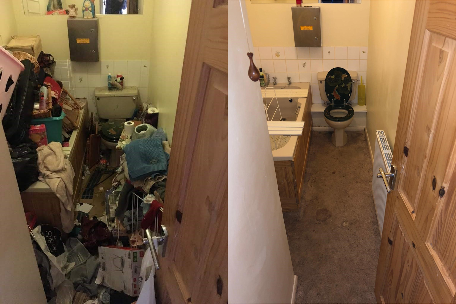 Before and After Hoarder Clean in Isle of Wight