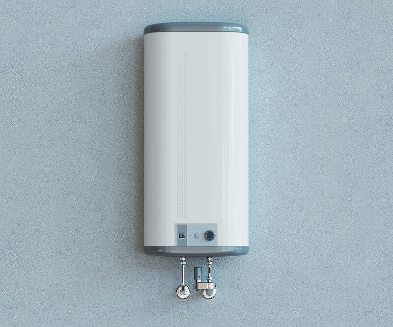 Uk modern home boiler.