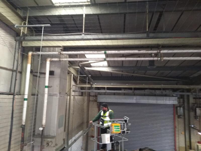 Man on an access platform crane