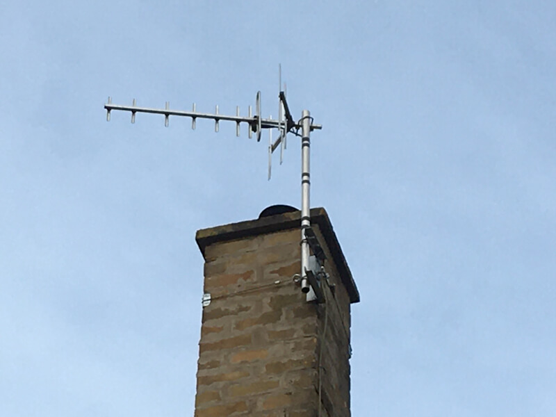 TV Aerials mounted on roof