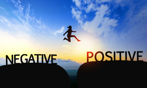 Jump from Negative to Positive concept