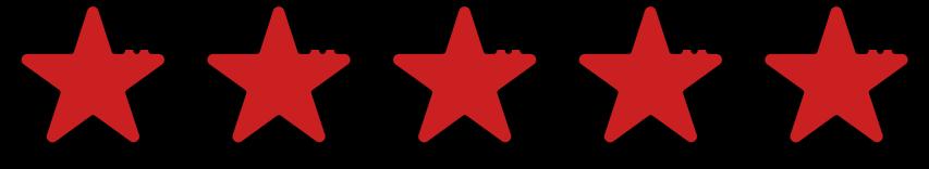 5 stars representing 5 star reviews