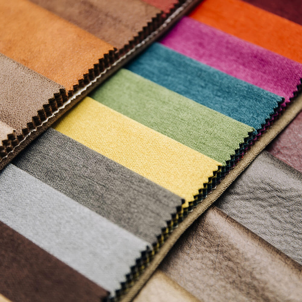 Colourful fabrics for use in upholstery
