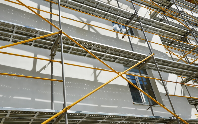 High visibility scaffolding