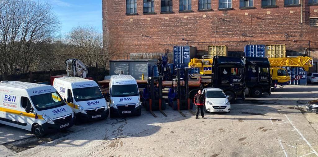 B & W Machinery Ltd Company Vehicles