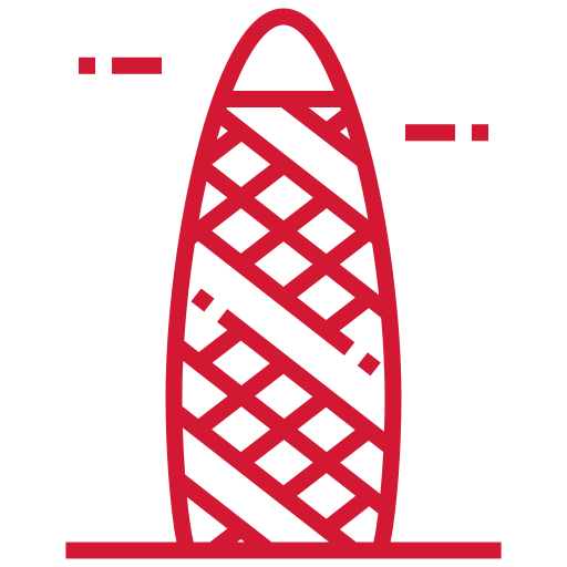 illustration of St Mary Axe AKA The Gherkin