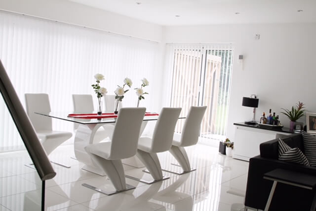 Elegant and contemporary dining area