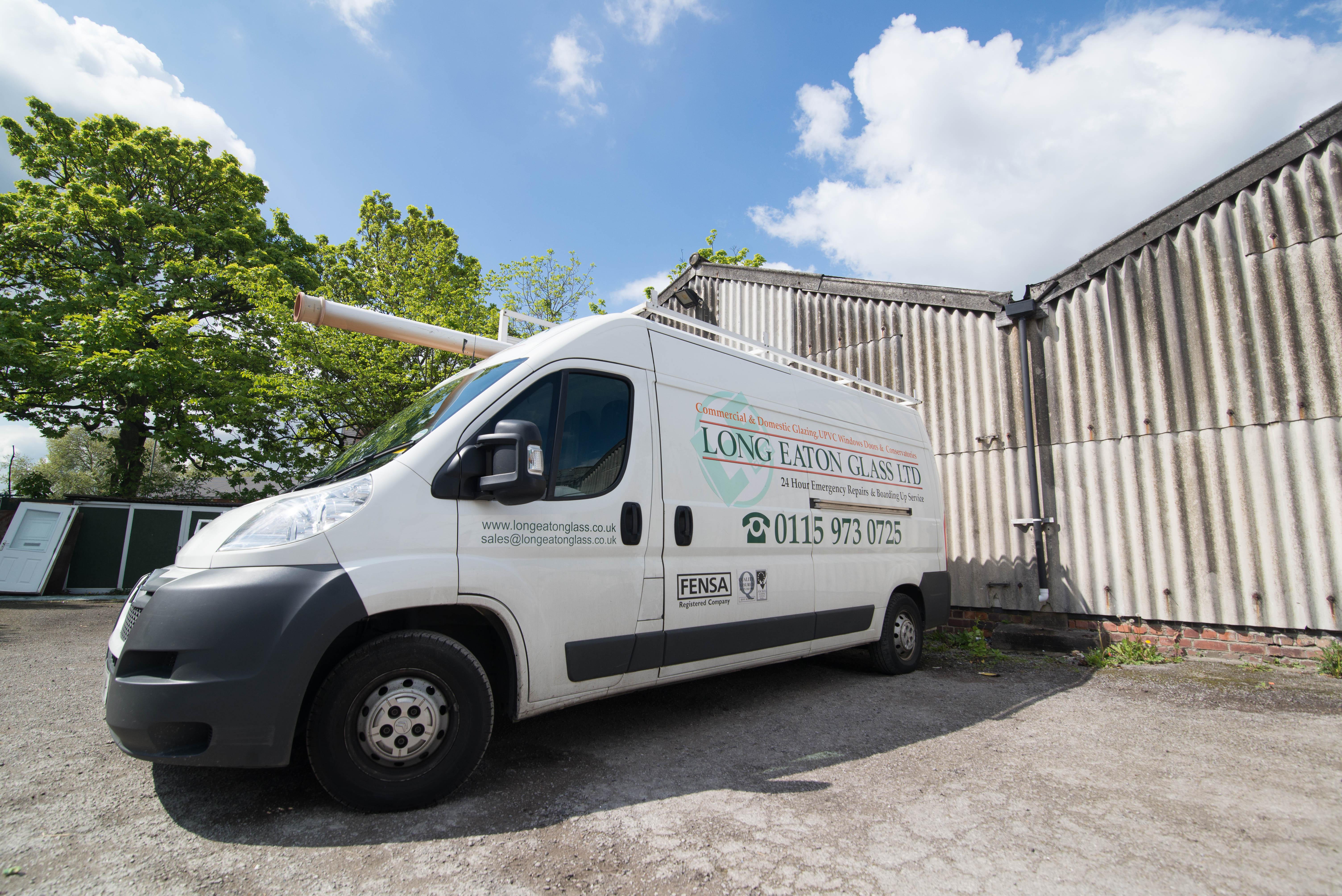 Long Eaton Glass company van.