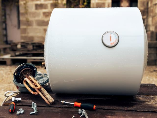 Boiler Disassembled For Repair or Replacement