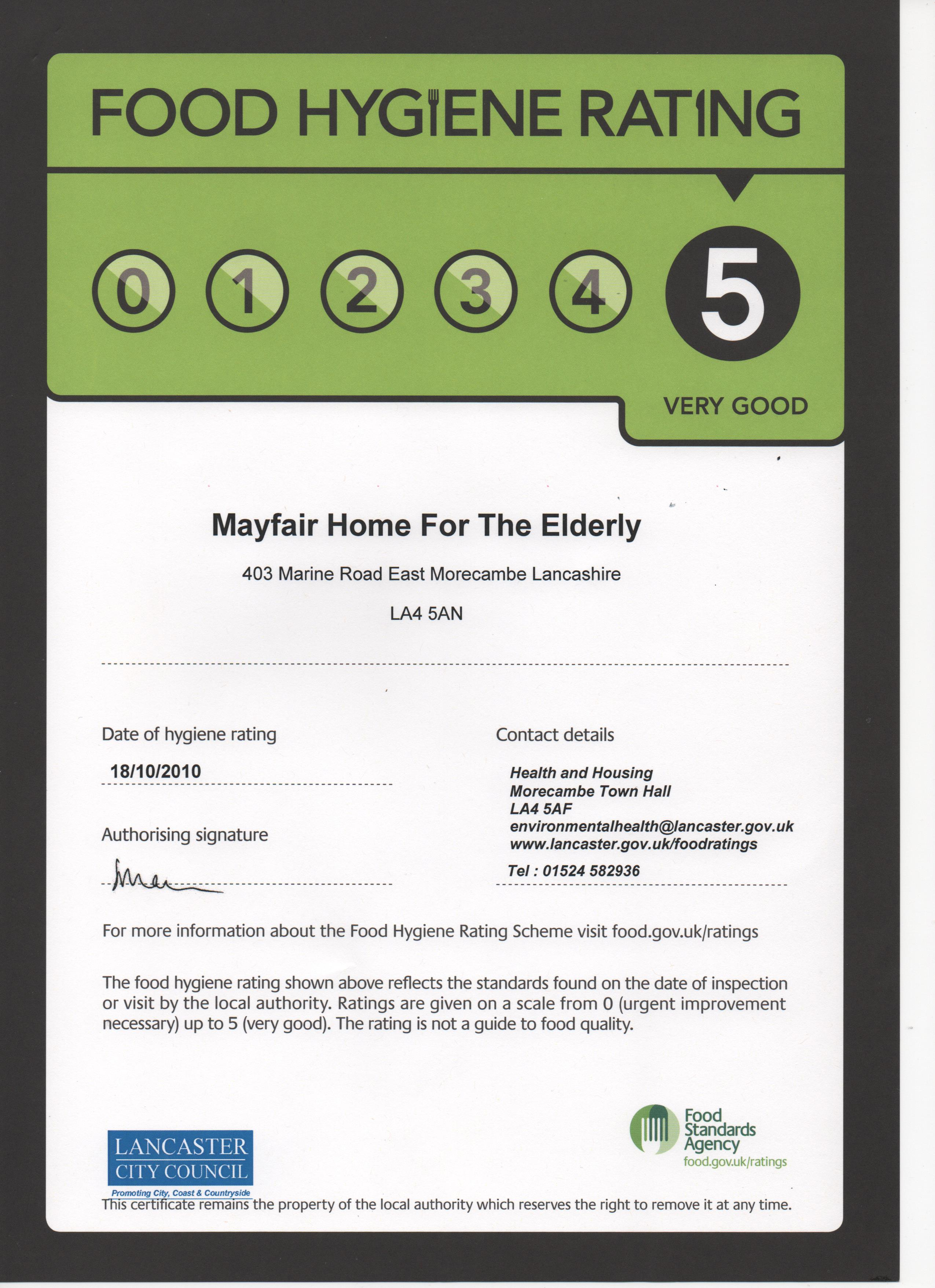 The Mayfair Residential Home Care Homes Morecambe Uk