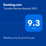 Booking.com 9.3 out of 10 award