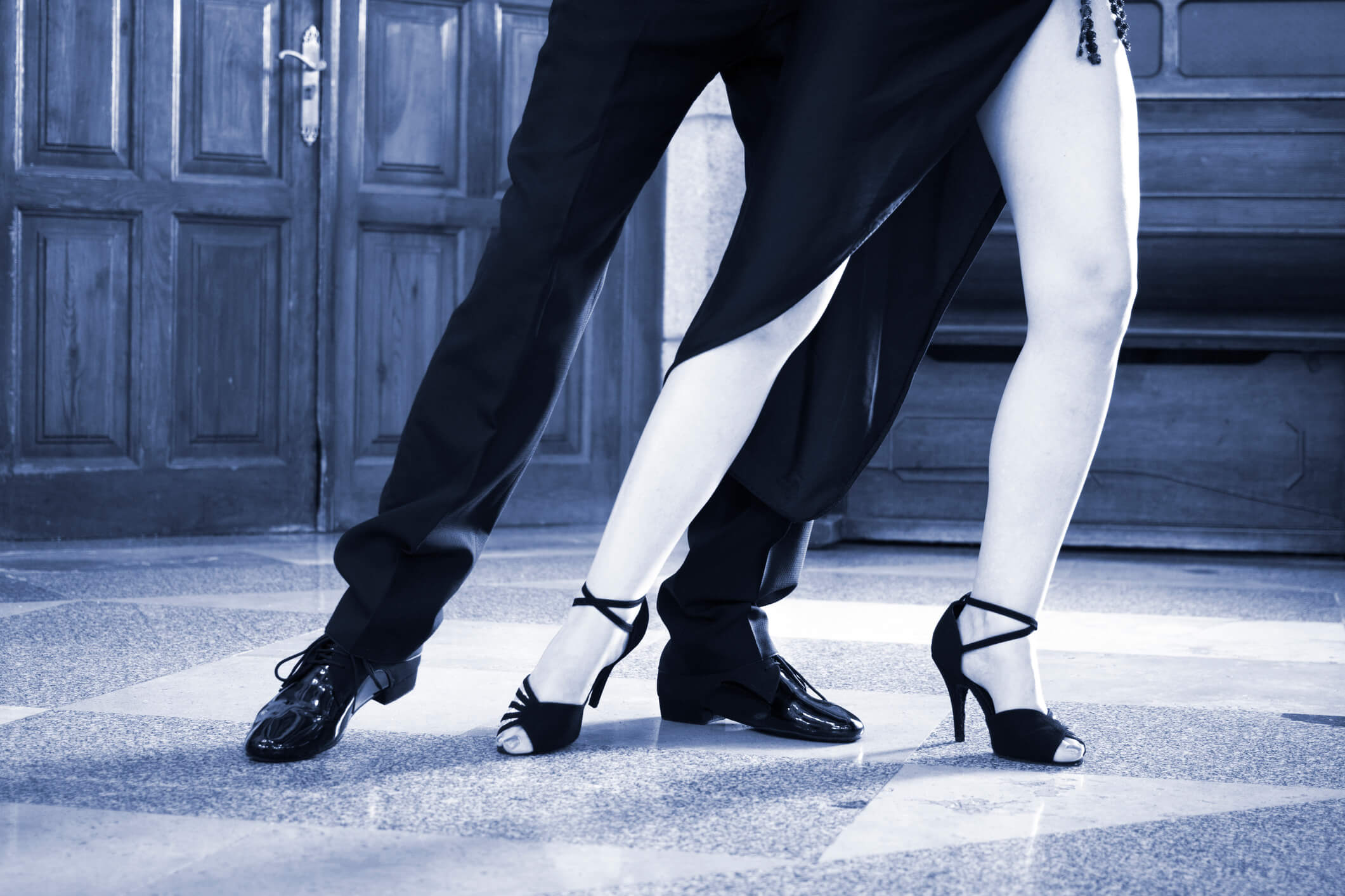 Ballroom dancers dancing couple.