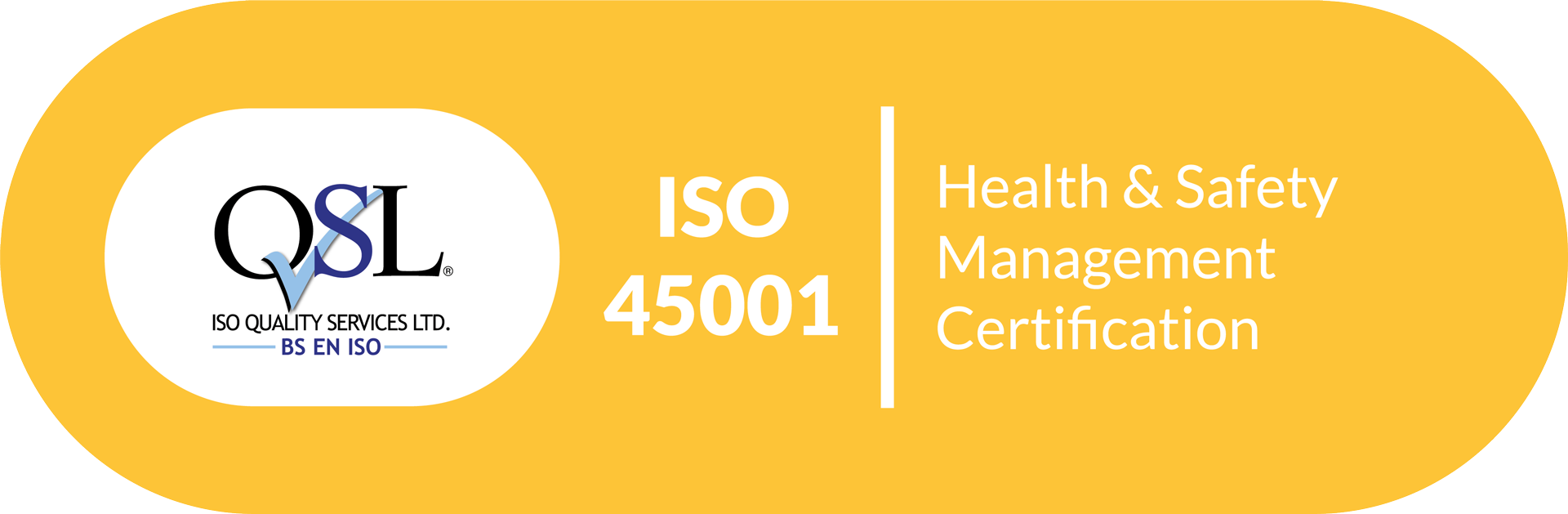 QSL Health & Safety Certificate