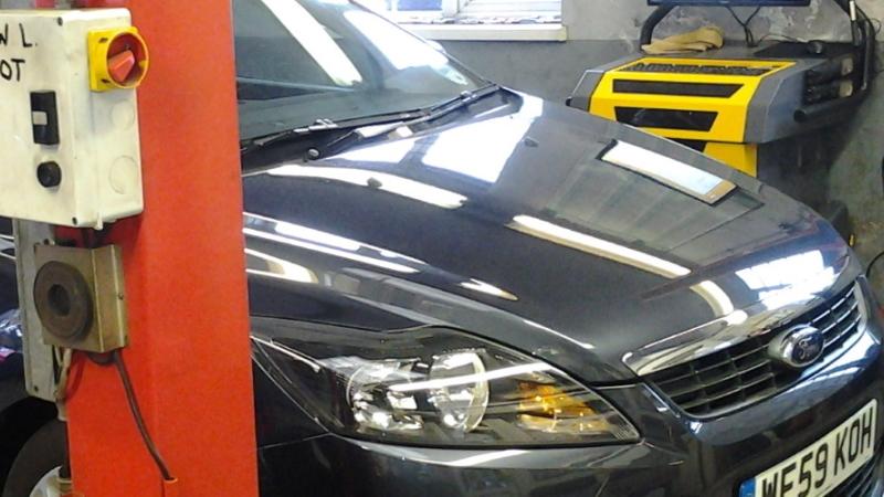 Ford car getting MOT