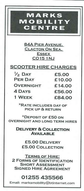 Scooter Hire Charges Poster