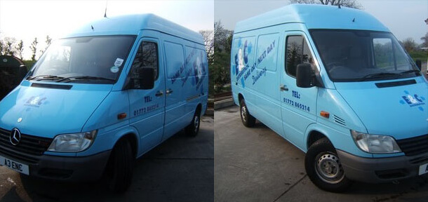 Company branded vans