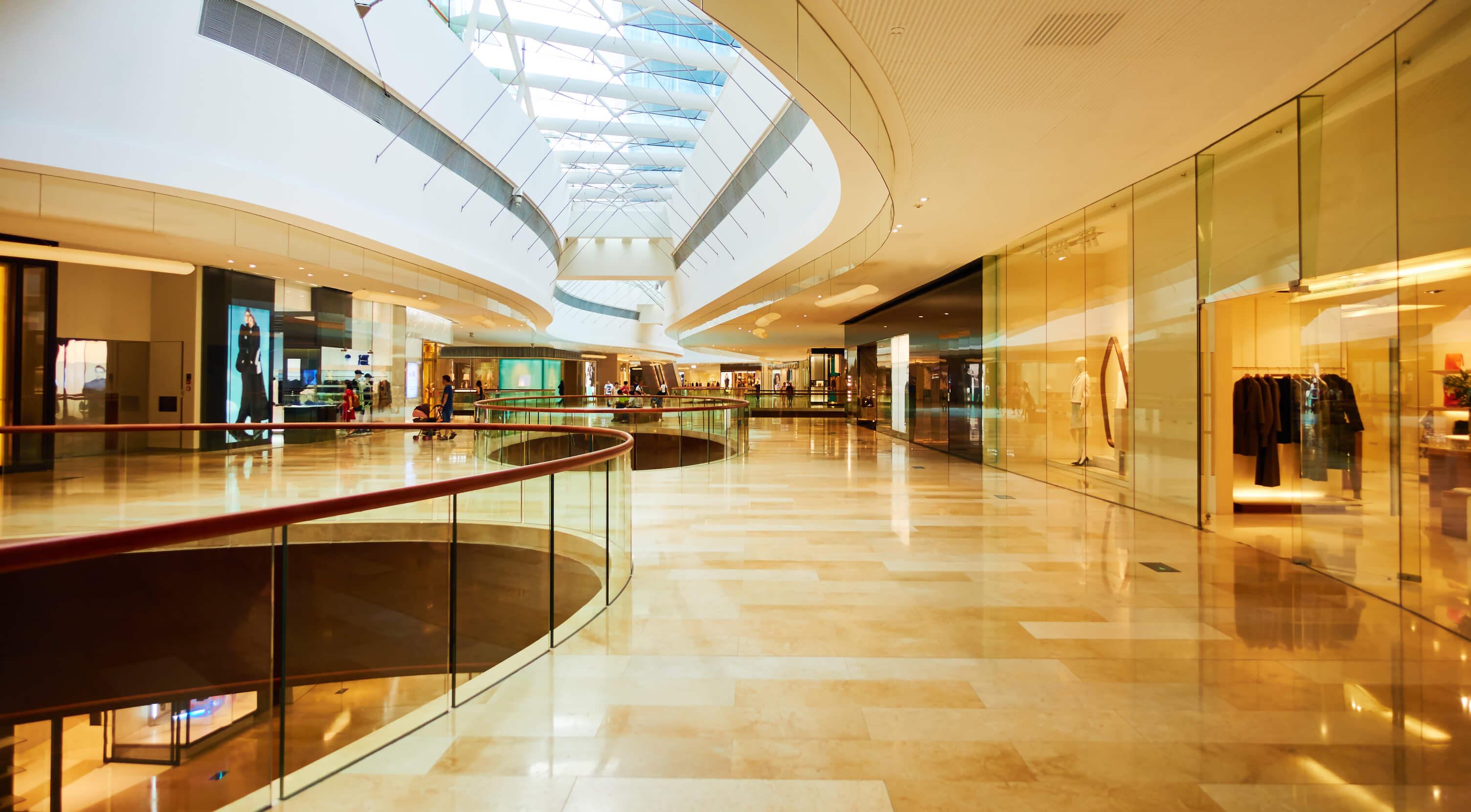 A shopping center.