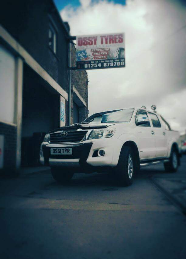 Ossy tyres Toyota Hilux work truck.
