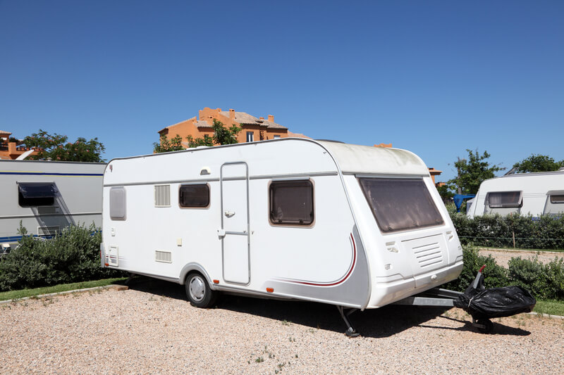 A Stationary Caravan.