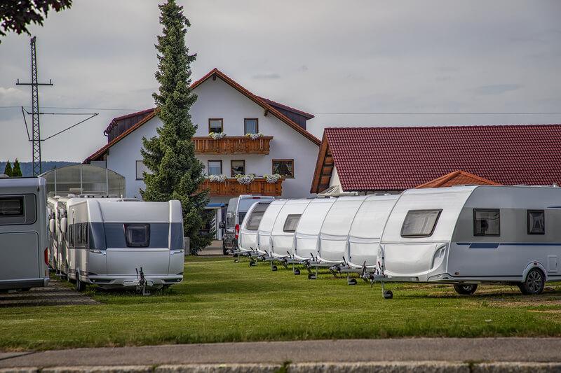A caravan park.