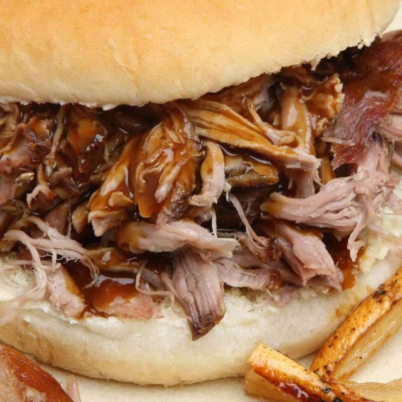 Fresh Buns with barbecue pulled pork