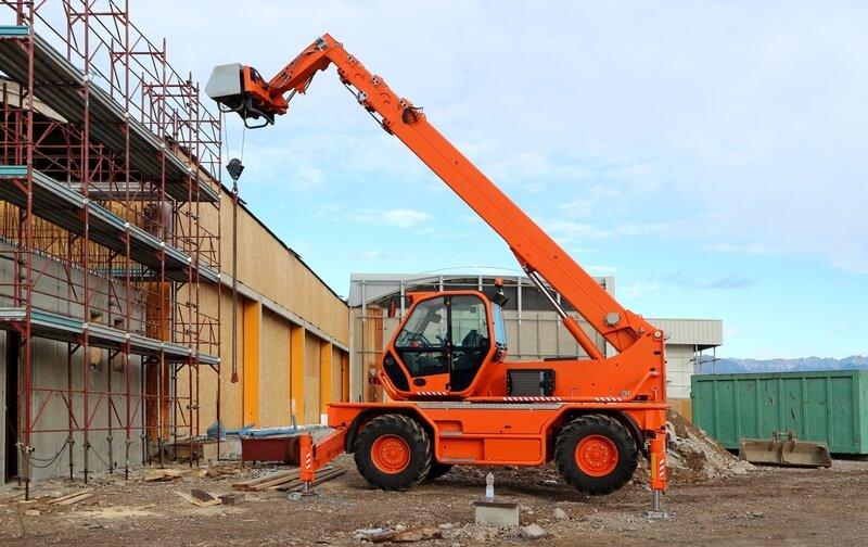Telehandler on a Building Site