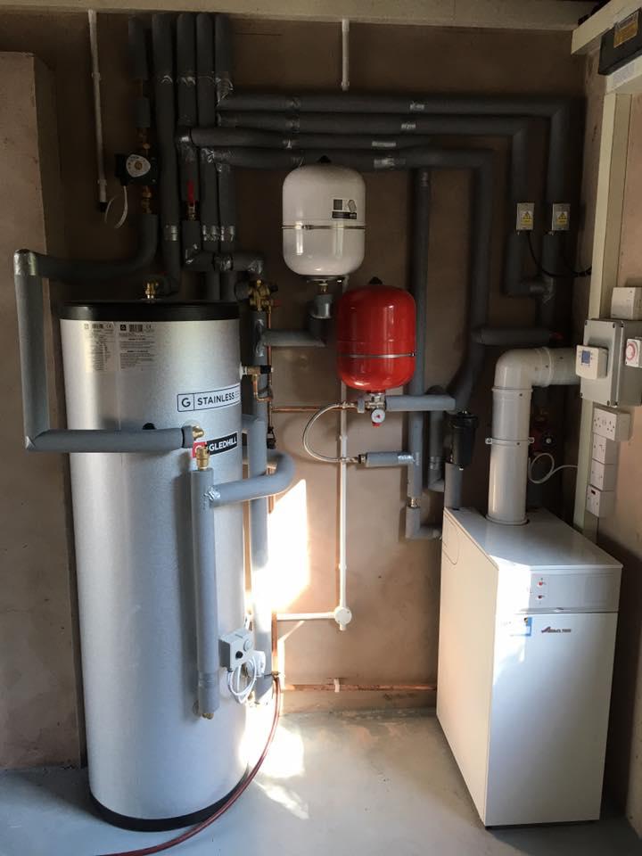 New boiler installation.