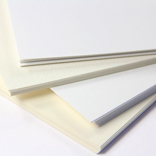 different thickness of card and paper
