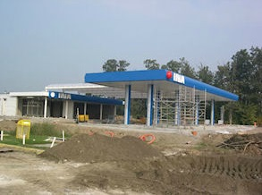 A new petrol station.
