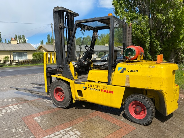 Yellow Forklift Crane