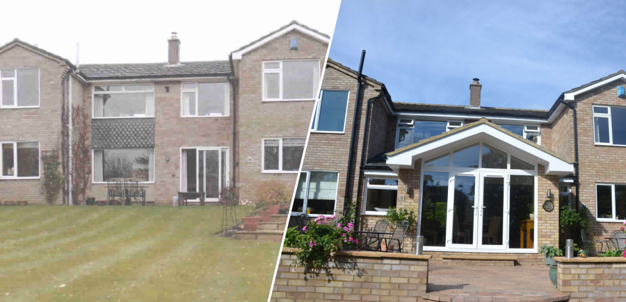Before and after a residential extension